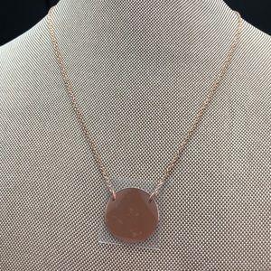 Fashion, rose gold tone necklace